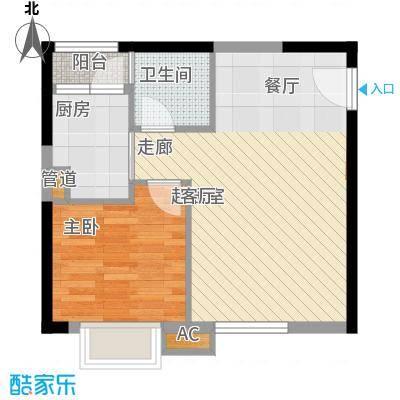 金碧翡翠华庭47.97㎡3号楼二面积4797m户型