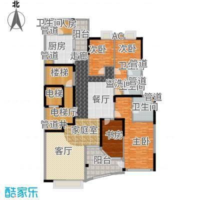 流花君庭253.50㎡L401单元(8、10、12、14、16层)5室户型