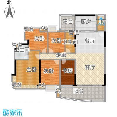 美林轩逸时光158.23㎡B1号楼02单元5室户型