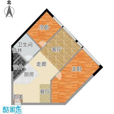瑞安花园80.00㎡国际公寓E户型