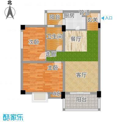 学府南苑82.11㎡7号楼04单元3室户型