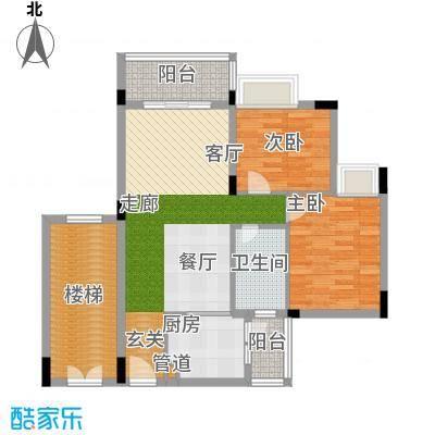 学府南苑83.41㎡7号楼06单元2室户型