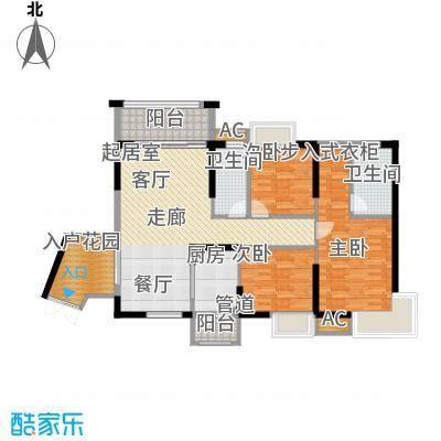 中恒公园大地花园111.66㎡10号、11号、12号、13号、14号楼标准层C、D户型