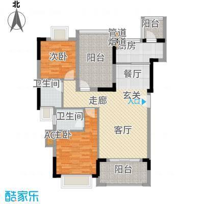 翰林国际96.54㎡9号楼02单元2室户型