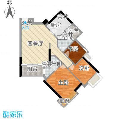 天河南兴花园89.29㎡南兴花园E1面积8929m户型