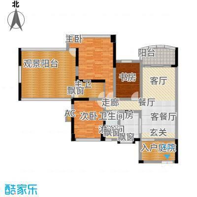 广州雅居乐花园十年小雅134.00㎡面积13400m户型