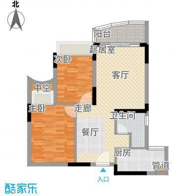 颐景华苑80.00㎡精致面积8000m户型