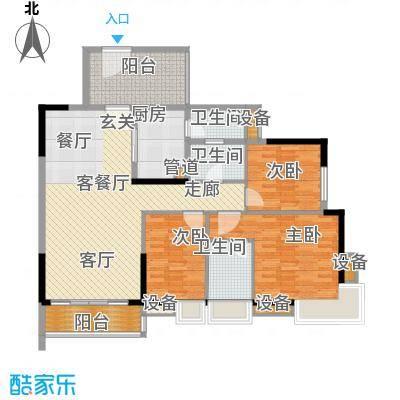 珠江俊园123.16㎡面积12316m户型