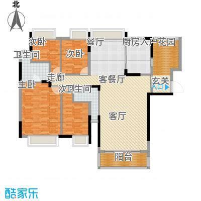 东山京士柏185.70㎡B栋4至13层02单位户型