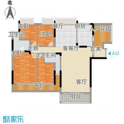 东山京士柏185.51㎡B栋第3层02单位户型