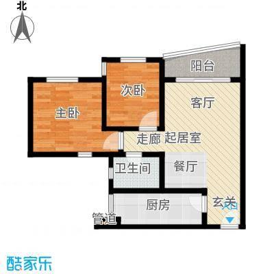 祈福新村青怡居58.00㎡面积5800m户型