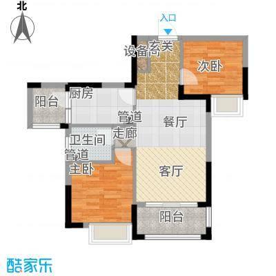 富盈四季华庭105.00㎡3/4/5栋标准层02户型