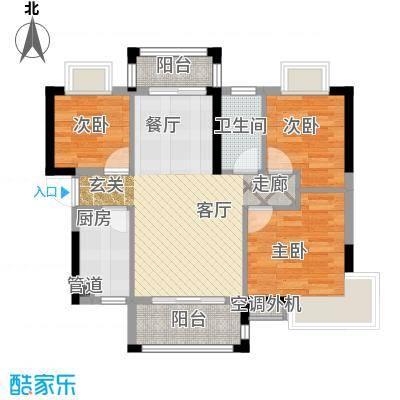 富盈四季华庭89.00㎡1-2、11-12栋标准层A1户型