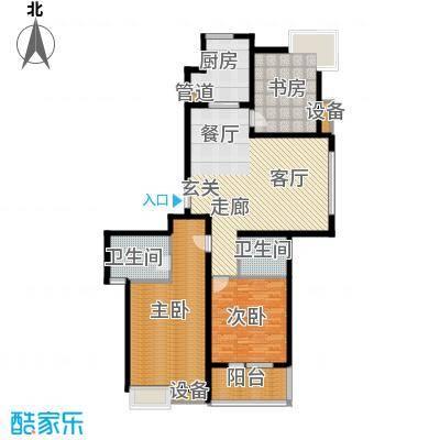 中建文化城134.00㎡8#号楼B2面积13400m户型