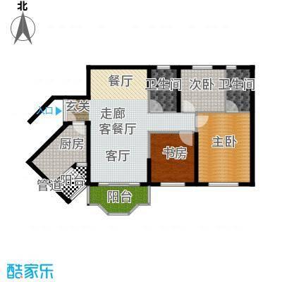 祈福新村活力花园104.26㎡12座08面积10426m户型