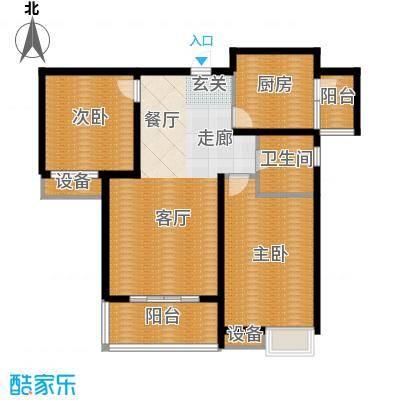 中建文化城100.00㎡8#号楼A2面积10000m户型