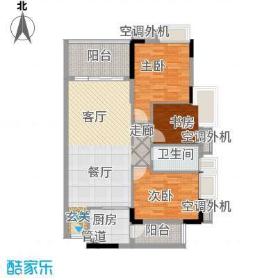 新时代家园92.00㎡3栋04单元3室户型