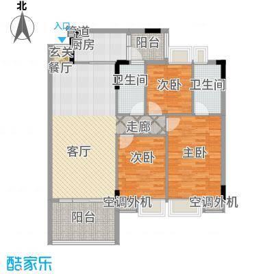 新时代家园108.55㎡1栋03/2栋01/3栋01户型