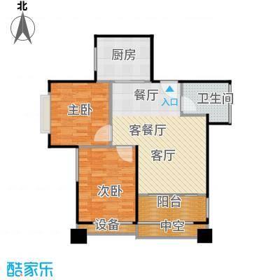 东华星域77.33㎡东华・星域B栋02单元2室户型