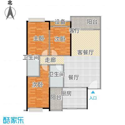 东华星域121.00㎡东华・星域B栋03单元3室户型