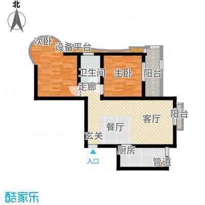 锦绣泉城90.67㎡12#A(已售完)面积9067m户型