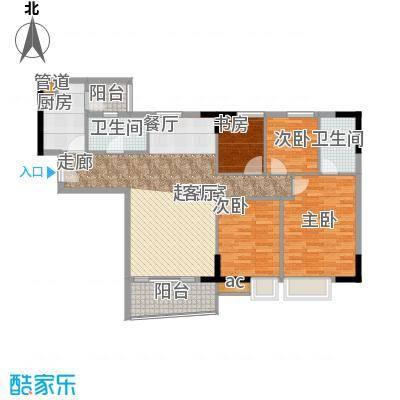 英豪花园107.60㎡A1栋05单元4室面积10760m户型