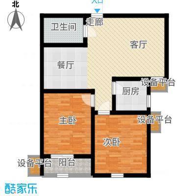锦绣泉城85.71㎡13#3-G(售完)2面积8571m户型