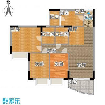 海龙湾102.78㎡锦云轩2梯2-10层面积10278m户型