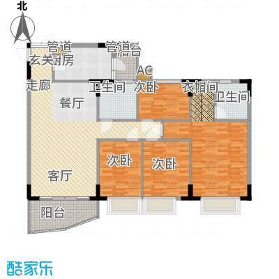 海龙湾125.56㎡水明轩1梯2-10层面积12556m户型