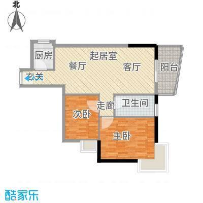 怡新花园88.23㎡A9栋501单位面积8823m户型