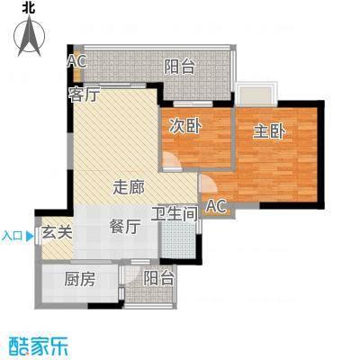 中海花城湾92.38㎡面积9238m户型