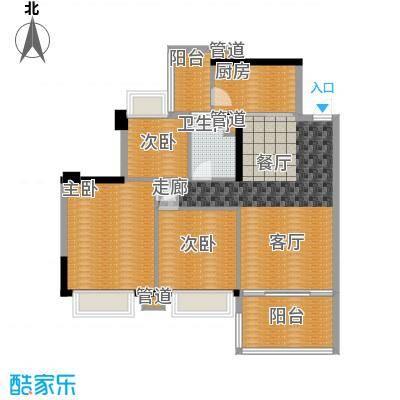 盈彩美居97.46㎡菁晖轩3座C单位面积9746m户型