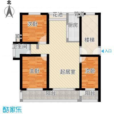 金榜华庭108.50㎡厚德多层户型