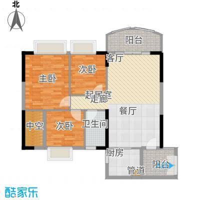 富力广场95.00㎡S2栋14-18层04单面积9500m户型