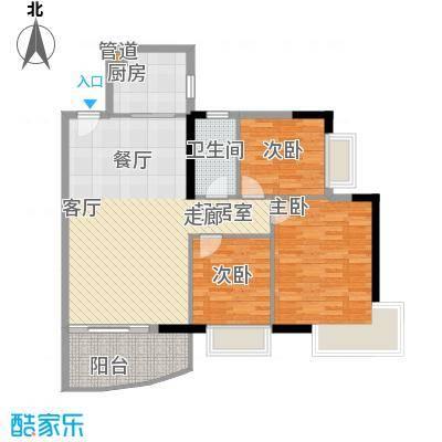 富力广场92.00㎡S2栋14-18层01单面积9200m户型