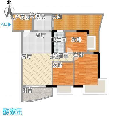 富力广场92.00㎡S2栋5-13层01单面积9200m户型