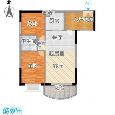富力广场85.00㎡S2栋5-13层03单面积8500m户型