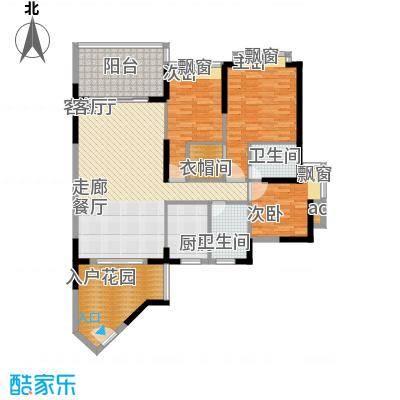 金凯盛誉城136.34㎡1栋3单元023室户型