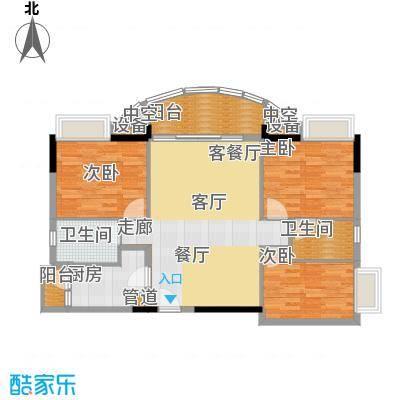 广州白天鹅花园102.23㎡F3栋2层3面积10223m户型