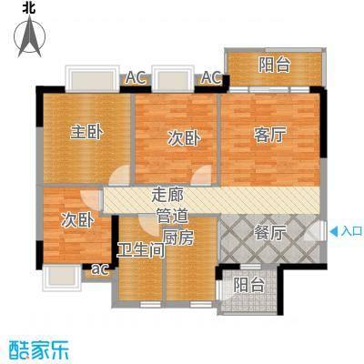 广州新塘新世界花园93.14㎡9栋04单元3室户型
