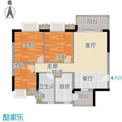 广州新塘新世界花园91.40㎡10栋3-16层04单位户型