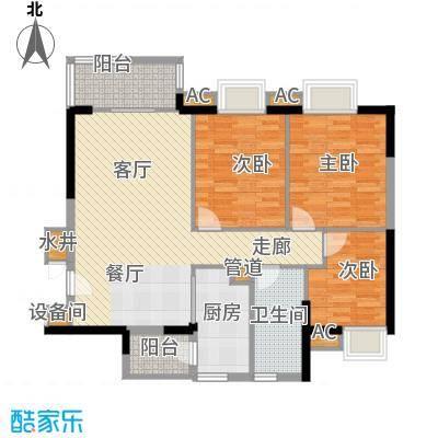 广州新塘新世界花园92.69㎡8栋3-18层01单位户型