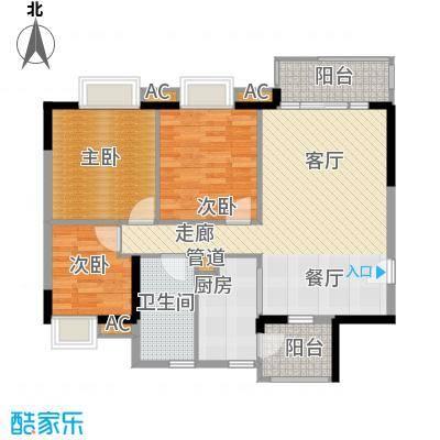 广州新塘新世界花园93.19㎡9栋04单位户型