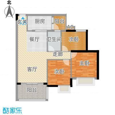 广州新塘新世界花园93.05㎡28栋1-6层02单元2室户型