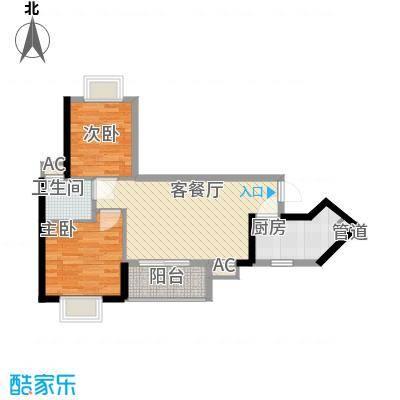 金碧领秀国际72.80㎡D6栋03单位面积7280m户型