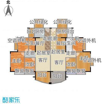 东海花园91.00㎡1、2、7、8座二面积9100m户型