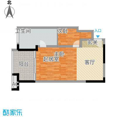 聚龙湖79.09㎡酒店公寓户型
