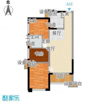 万科缤纷四季94.00㎡南区37号楼04单元3室户型