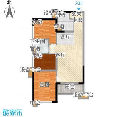 万科缤纷四季86.00㎡南区16号楼06单元3室户型