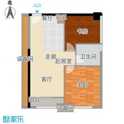 南海星汇云锦91.00㎡公寓04单元2室户型